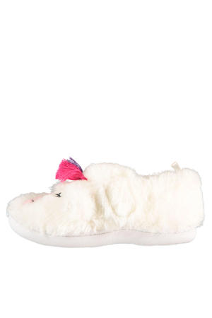 pantoffels unicorn wit