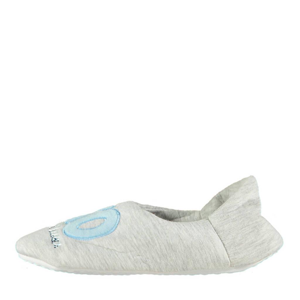 Apollo pantoffels grijs/blauw, Grijs/blauw