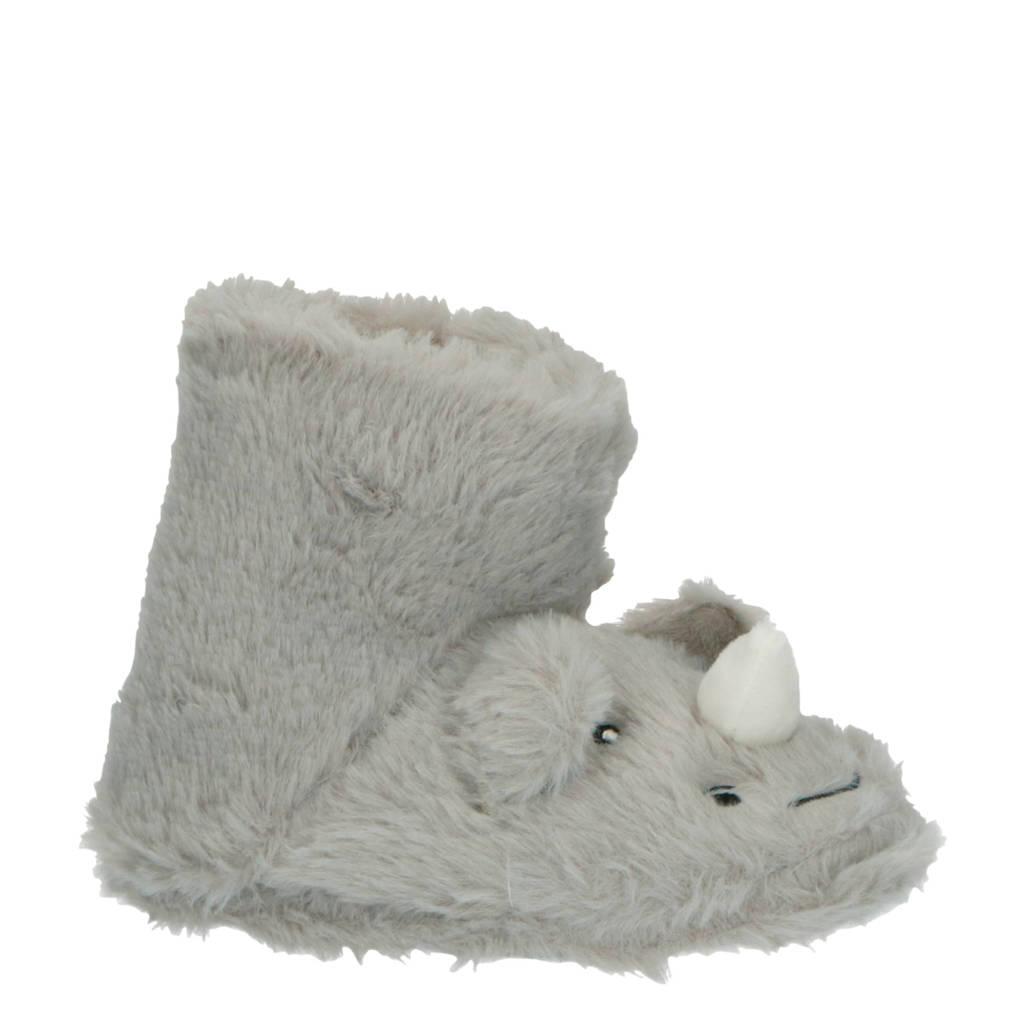 Apollo pantoffels neushoorn grijs, Grijs