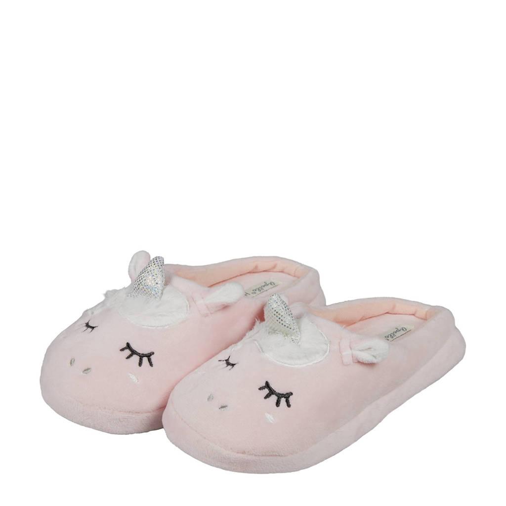 Apollo pantoffels unicorn roze, Roze
