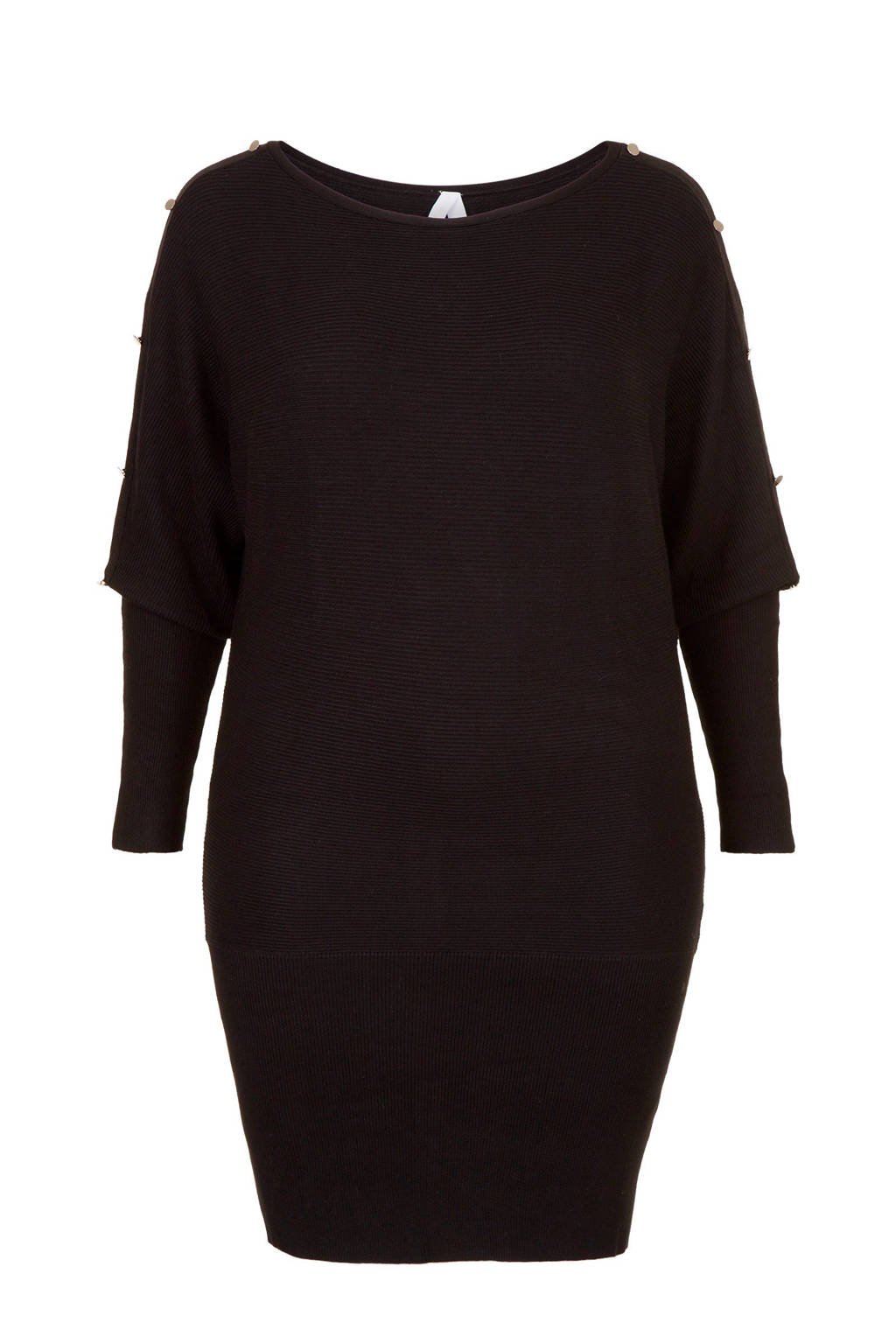 Miss Etam Plus tuniek met studs zwart, Zwart