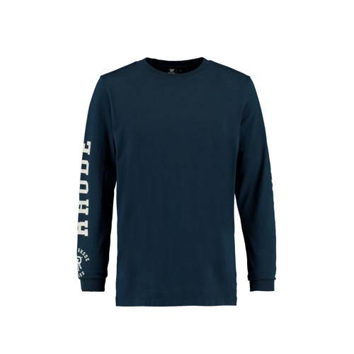 America Today T-shirt met tekst dark blue