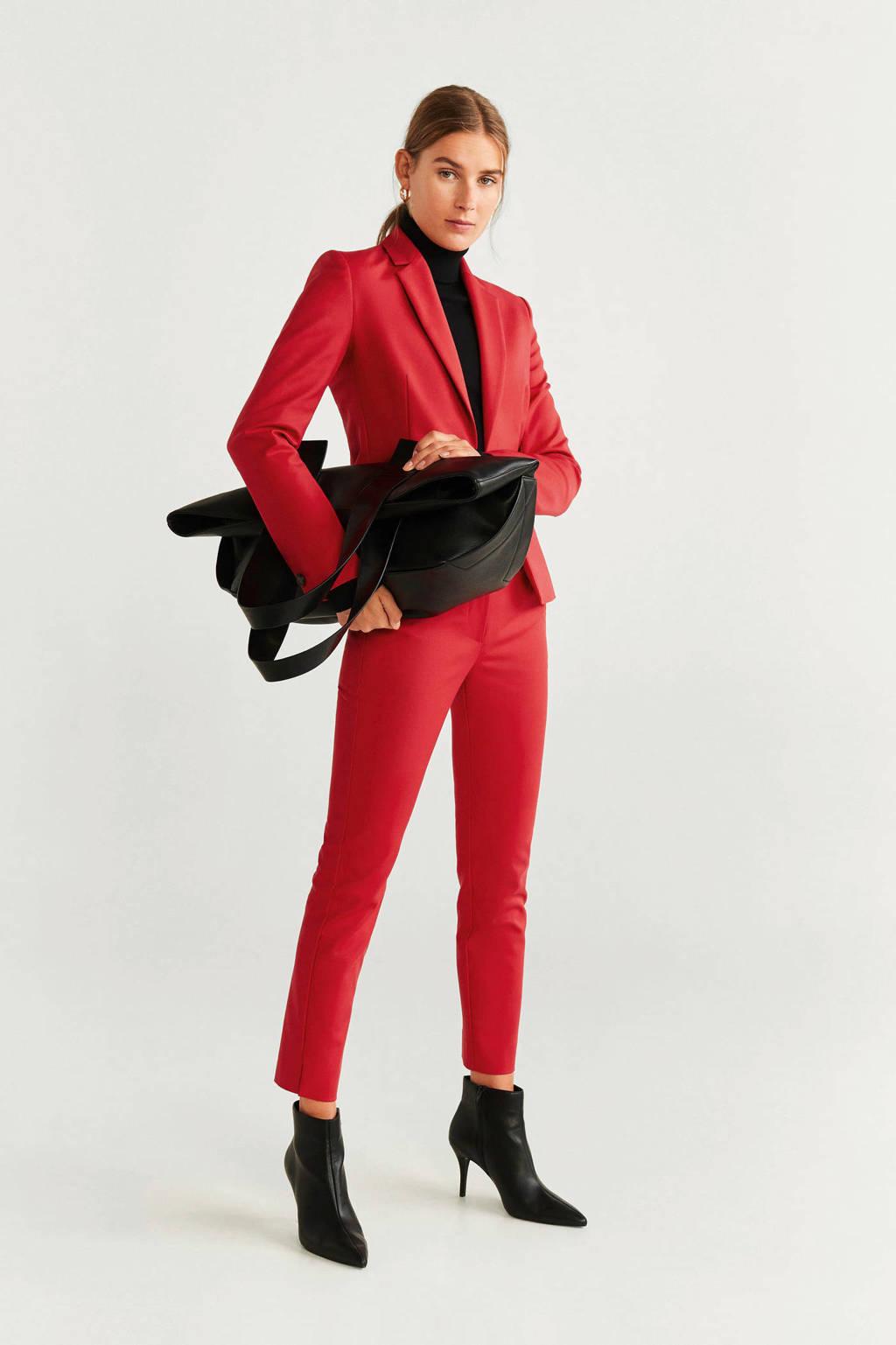 Mango straight fit pantalon rood, Rood