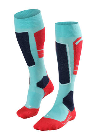 SK4 skikousen blauw/rood/zwart