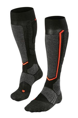 ski sokken zwart/rood