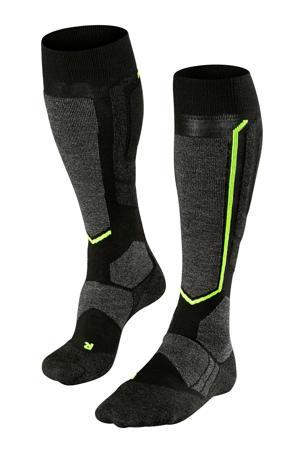ski sokken zwart/groen
