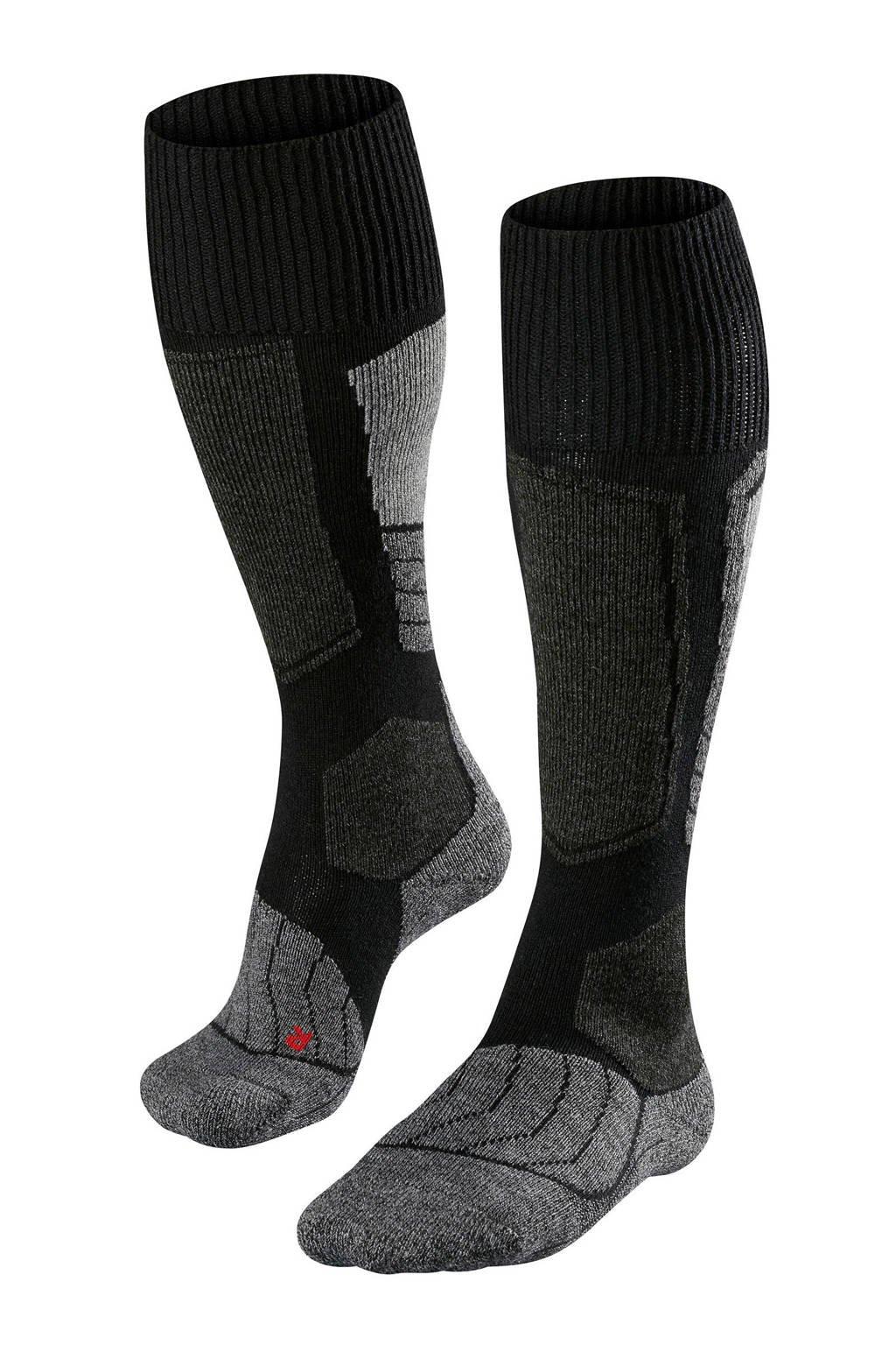 FALKE SK1 skisokken zwart, Zwart