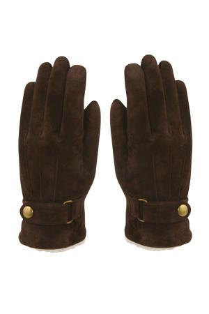 leren suède handschoenen bruin