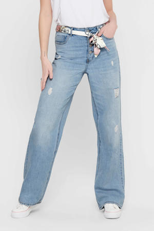 high waist loose fit jeans Molly blauw