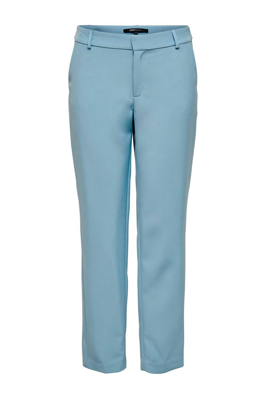 ONLY slim fit pantalon lichtblauw, Lichtblauw