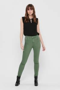ONLY skinny jeans groen, Groen