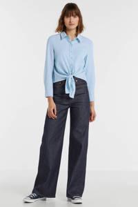 ONLY gestreepte blouse blauw, Blauw
