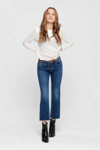 ONLY high waist flared jeans donkerblauw, Donkerblauw