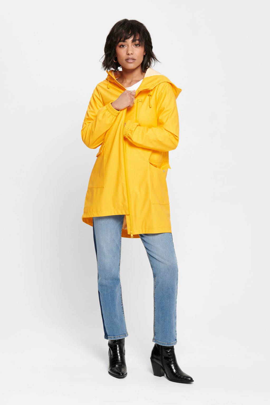 ONLY regenjas geel, Geel