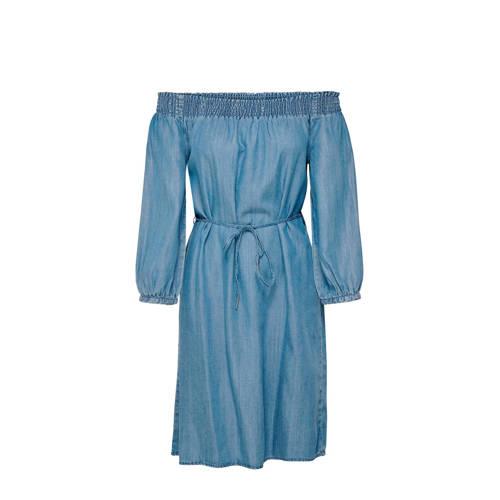ONLY off shoulder jurk Tamantha blauw
