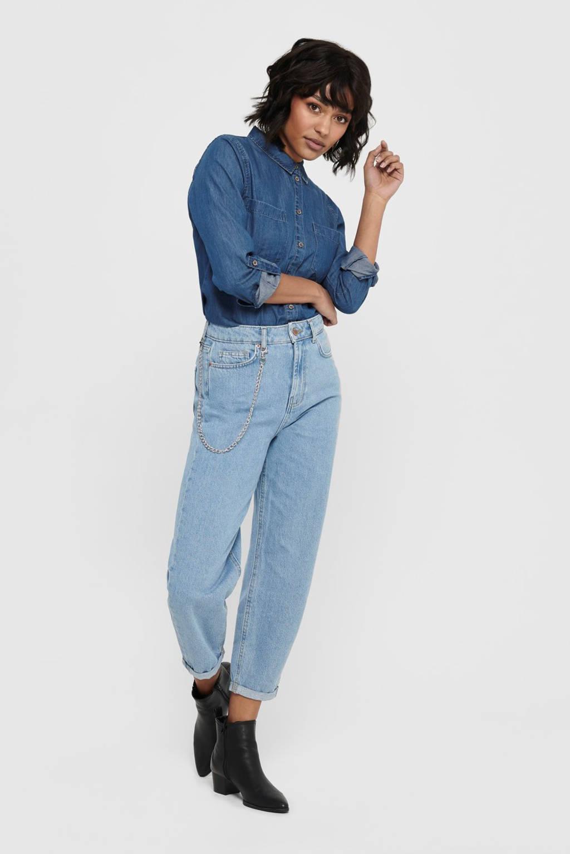 ONLY high waist boyfriend jeans blauw, Blauw