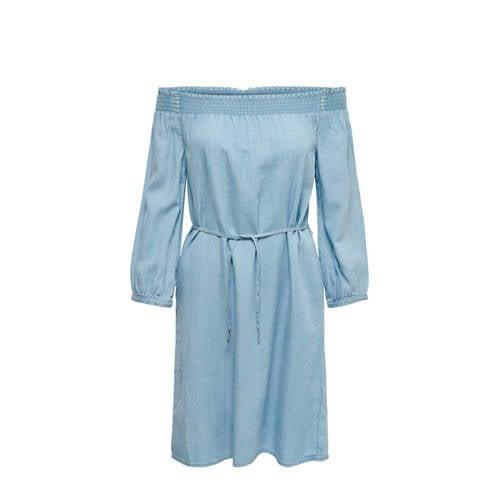 ONLY off shoulder jurk blauw