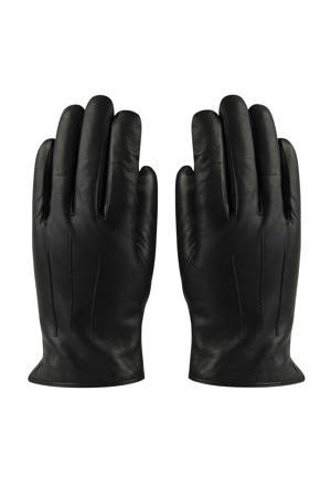 trendy leren handschoenen zwart