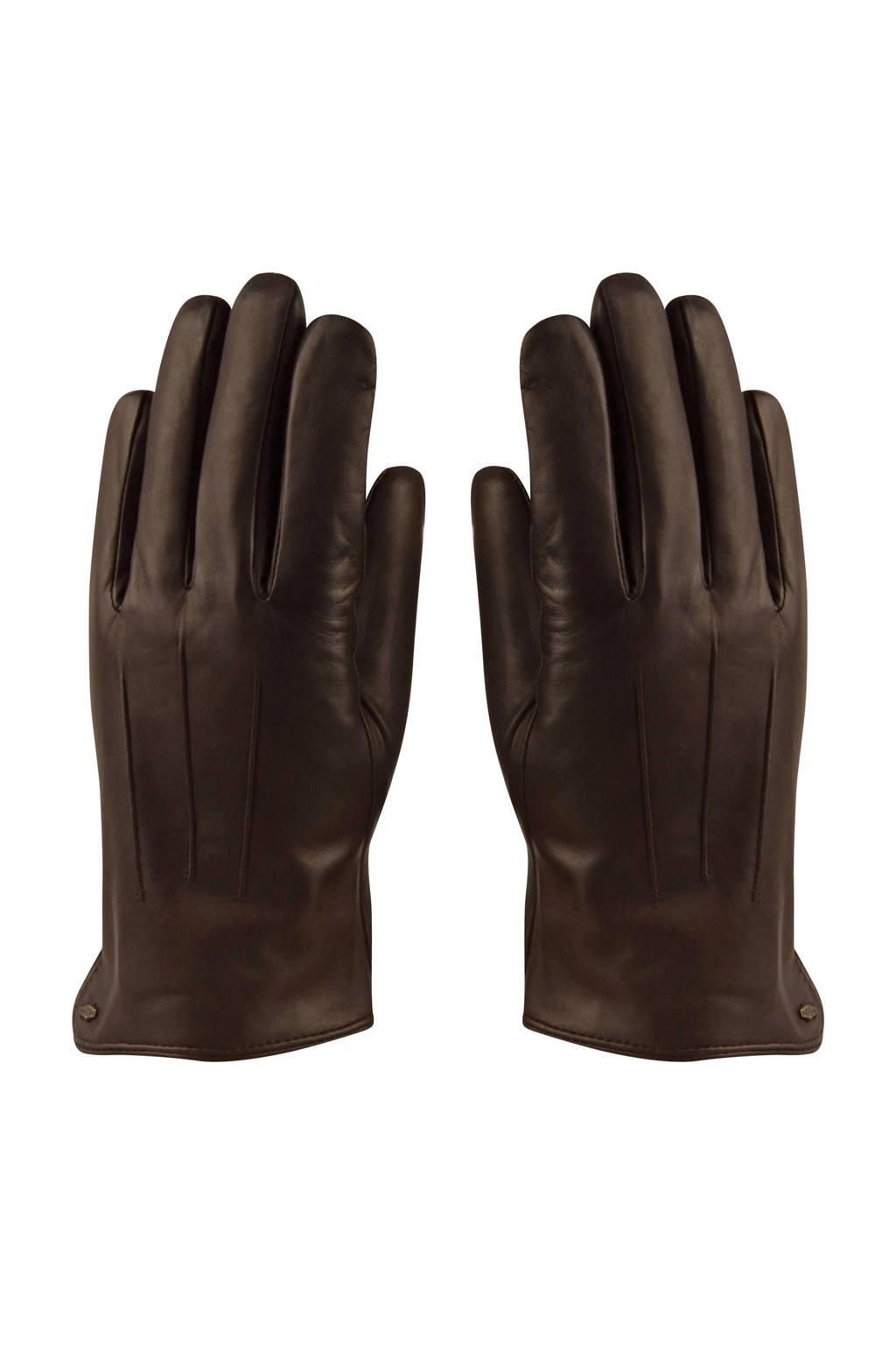 HATLAND trendy leren handschoenen bruin, Bruin