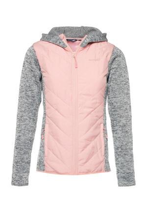 Mountain Peak fleecevest roze/grijs