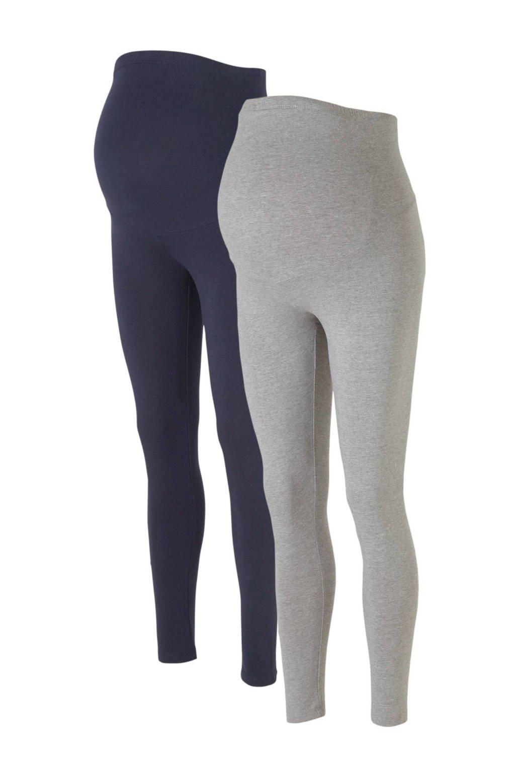 C&A Positiemode legging donkerblauw/grijs - set van 2, Donkerblauw