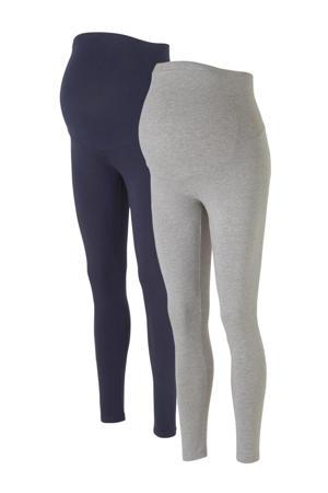 legging donkerblauw/grijs - set van 2