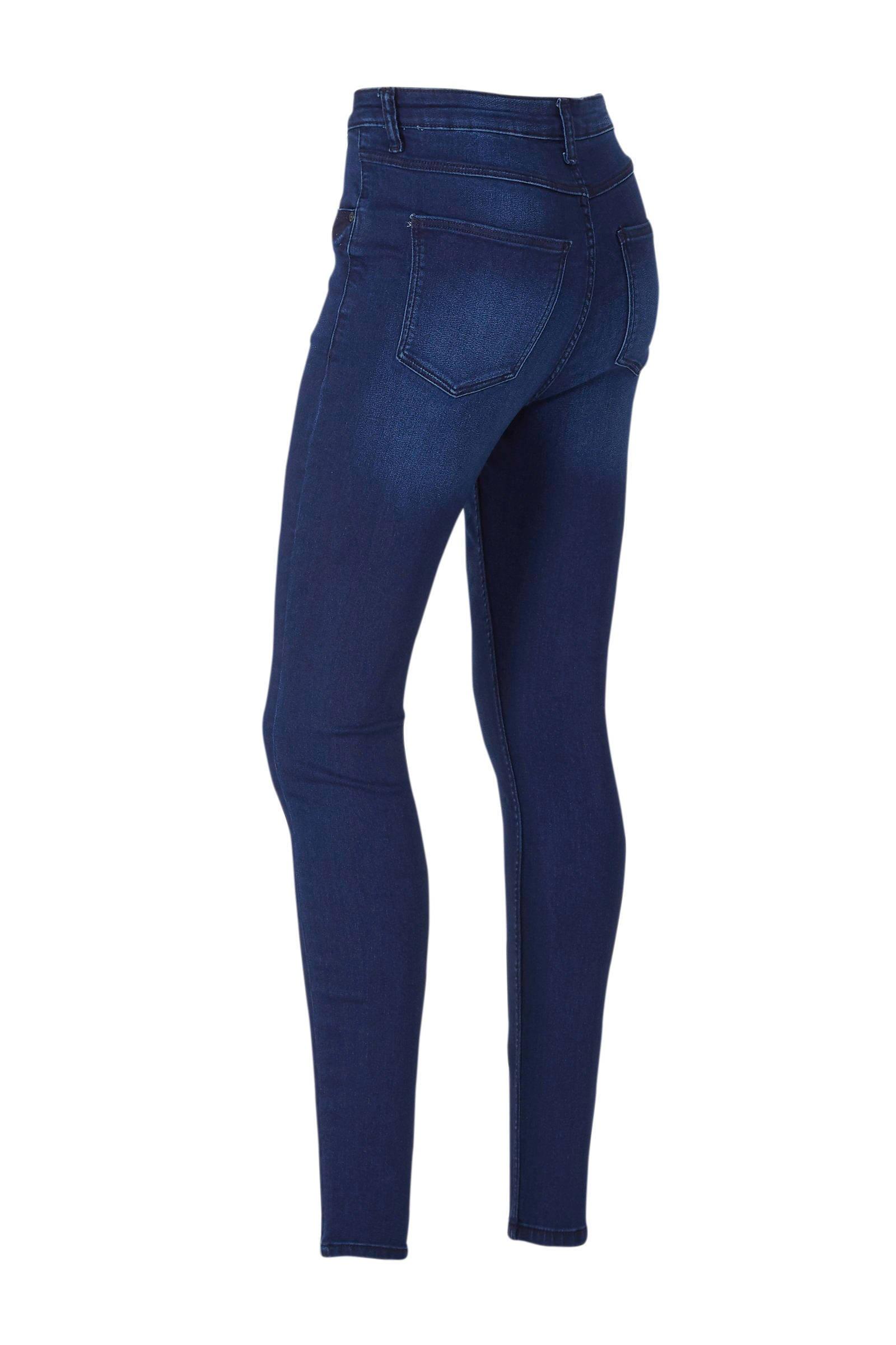 C&A The Denim high waist skinny jeans donkerblauw