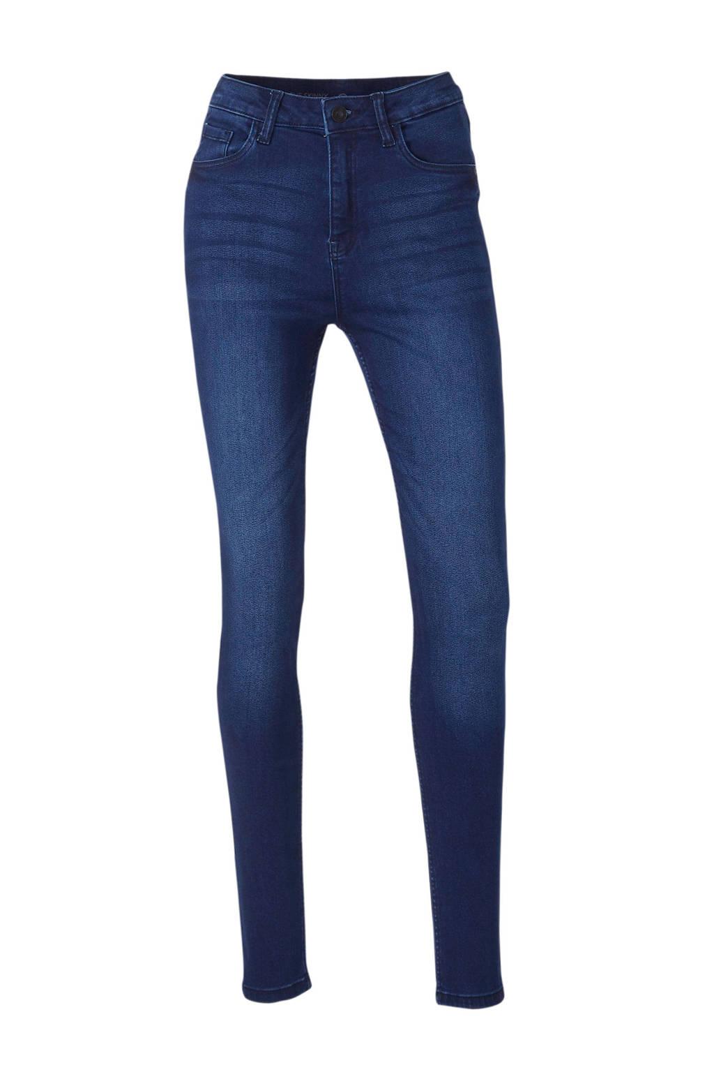 C&A The Denim high waist skinny jeans donkerblauw, Donkerblauw