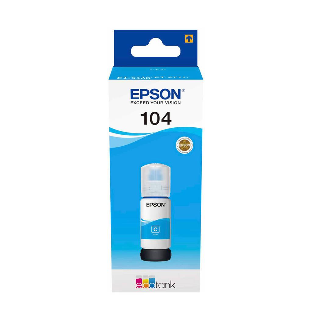 Epson ECOTANK 104 Cyan inktcartridge, N.v.t.