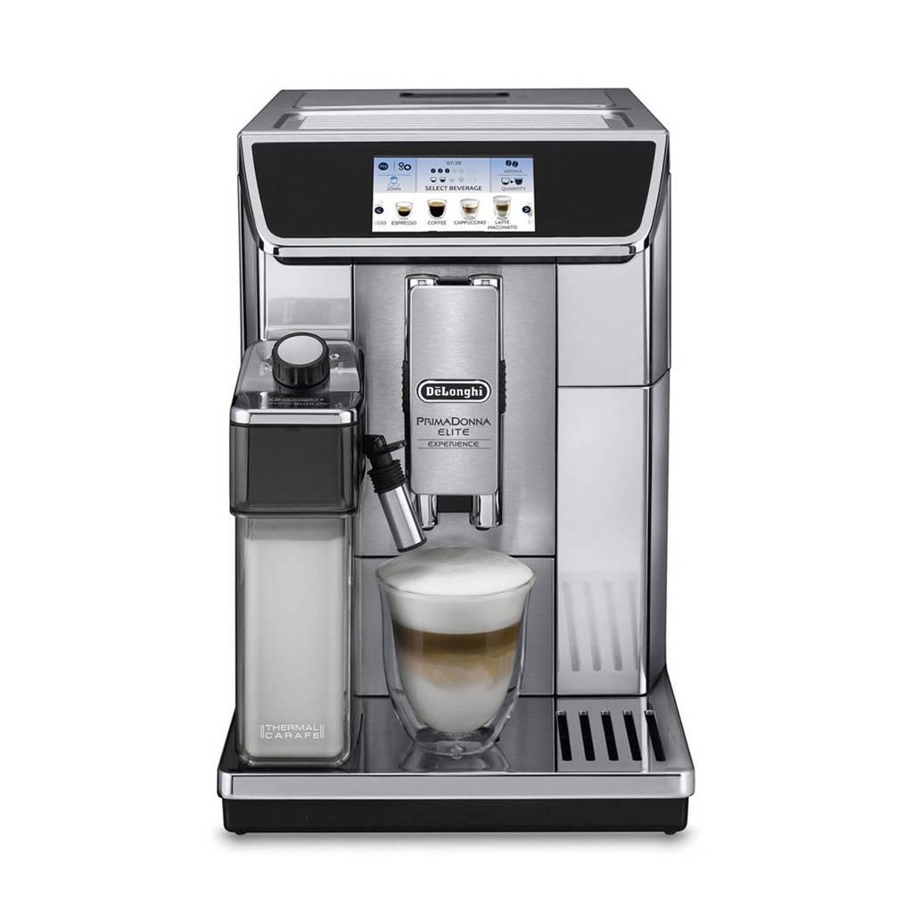 De'Longhi ECAM650.85.MS PrimaDonna koffiemachine, Zwart, Metallic