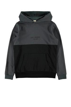hoodie met biologisch katoen zwart