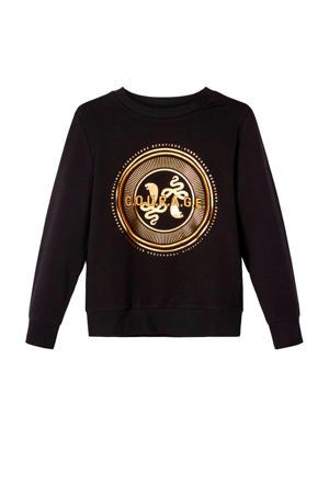 sweater Rasui met printopdruk zwart