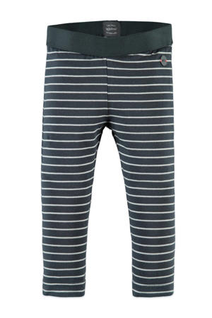 gestreepte regular fit legging antraciet/wit
