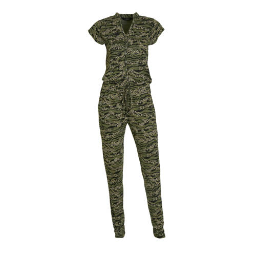 anytime viscose jersey jumpsuit met all-over print