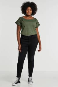 anytime top Plus size met used-look groen, Groen
