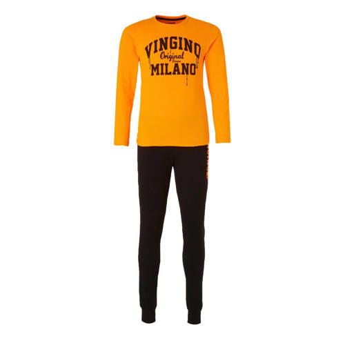 Vingino pyjama Palermo met logo oranje/zwart