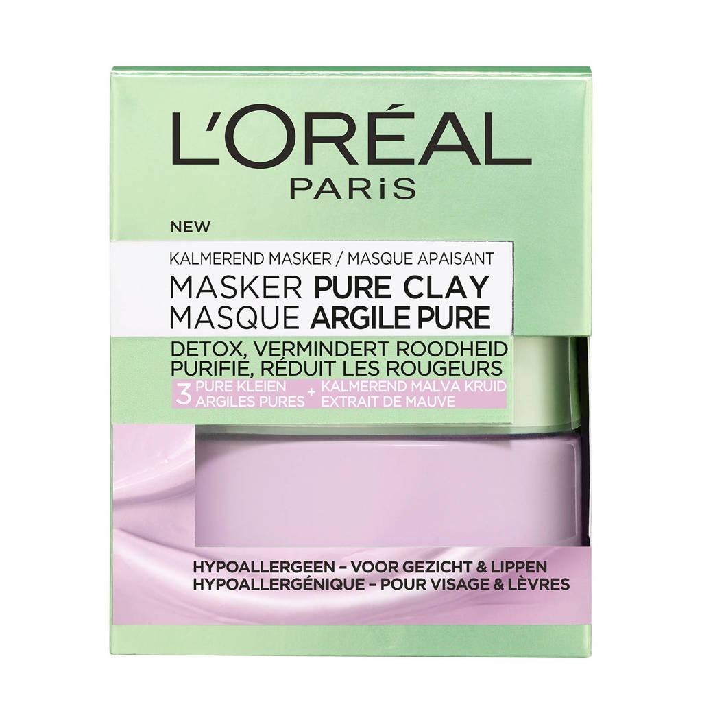 L'Oréal Paris kalmerend Pure Clay gezichtsmasker - 50 ml