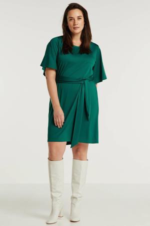 jurk Plus size smaragdgroen