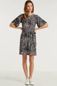 anytime jurk all-over print zwart/beige, Zwart/beige