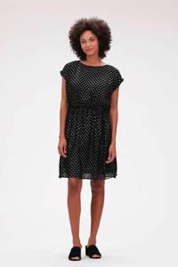 GAP jurk met stippen zwart, Zwart