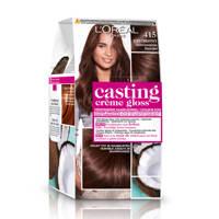 L'Oréal Paris Casting Crème Gloss haarkleuring - 415 Midden kastanjebruin, 415 Midden Kastanjebruin