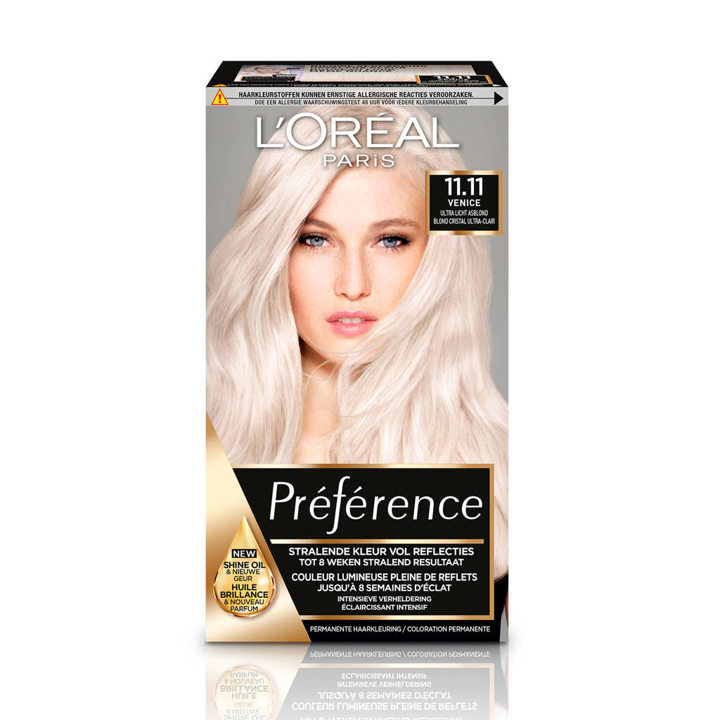 L'Oréal Paris Préférence Cool Haarkleuring - 11.11 Blond, 11.11 Ultra Licht asblond