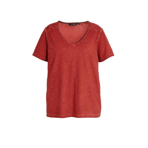 anytime piment dye T-shirt Plus size met smock bri