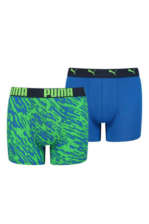 boxershort - set van 2 blauw/groen