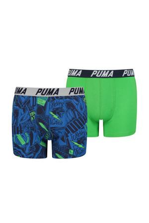 boxershort - set van 2 felgroen/blauw