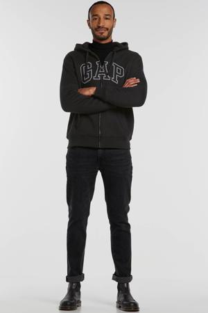 vest met logo zwart