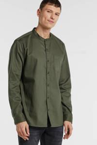 GAP gemêleerd slim fit overhemd olijfgroen, Olijfgroen