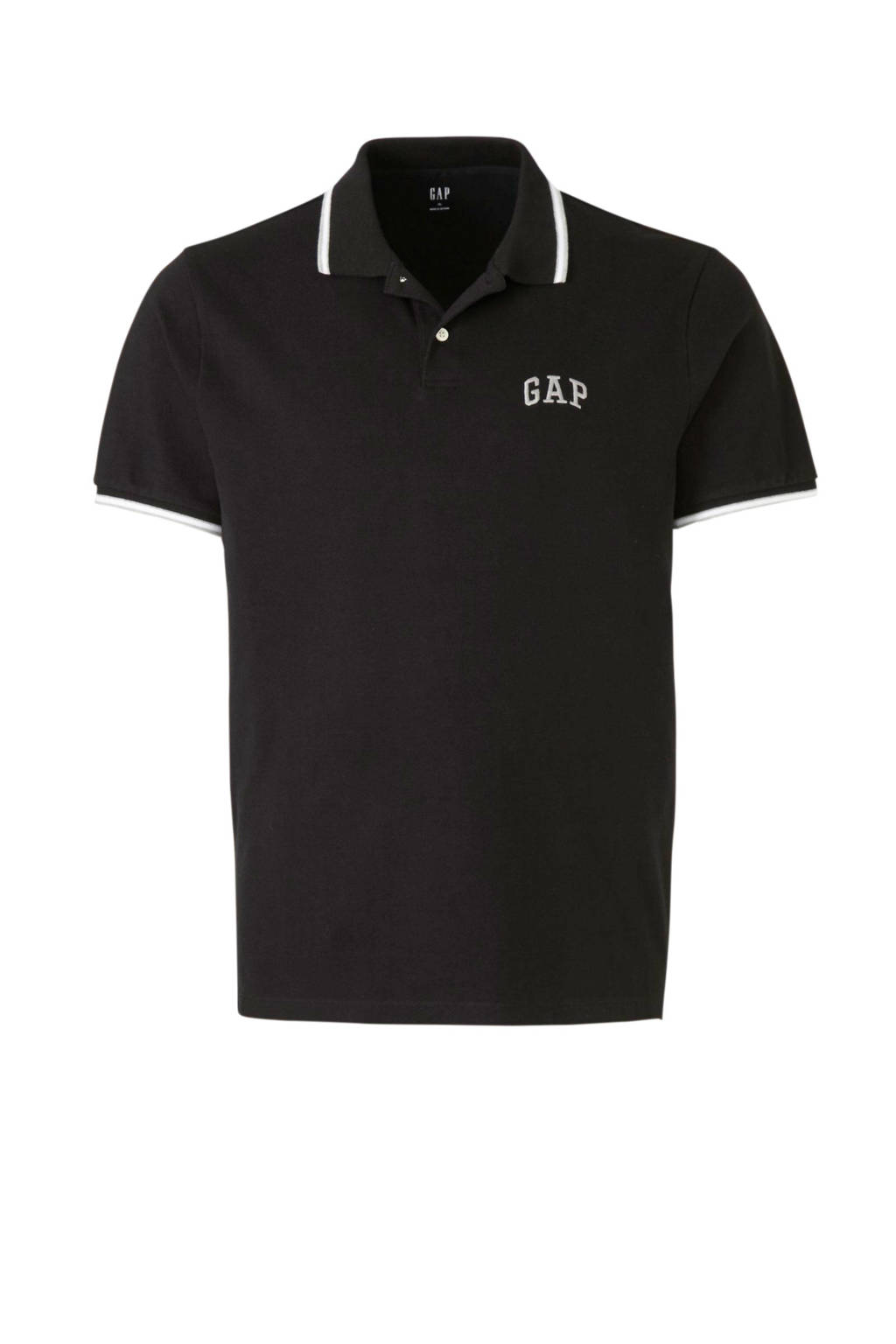 GAP regular fit polo zwart, Zwart