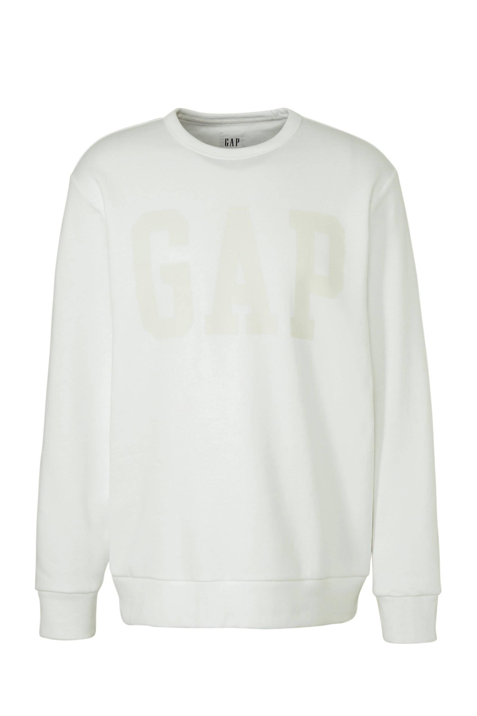 GAP sweater met printopdruk wit | wehkamp