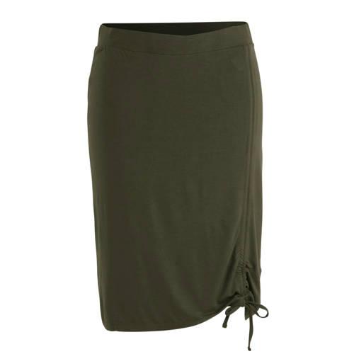 anytime rok Plus size met rimpeleffect groen